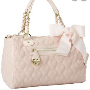 Betsey Johnson Cream Quilted Bag
